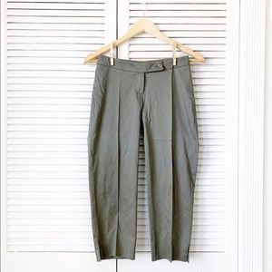 Army Green Cropped Trousers NWOT